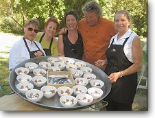 "Class Assistants with chef Gerard Nebesky ""The Paella Guy"""