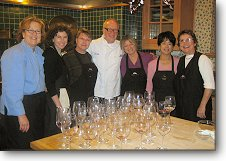 Class Assistants with celebrity chef John Ash